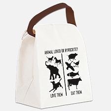 Animal Lover or Hypocrite? Canvas Lunch Bag