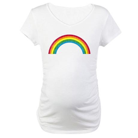 Retro Rainbow Maternity T-Shirt