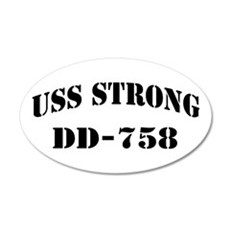 USS STRONG 20x12 Oval Wall Decal