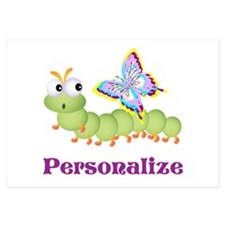 Personalize Wiggle worm Butterfly Invitations