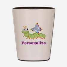Personalize Wiggle worm Butterfly Shot Glass