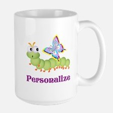Personalize Wiggle worm Butterfly Mugs