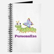 Personalize Wiggle worm Butterfly Journal