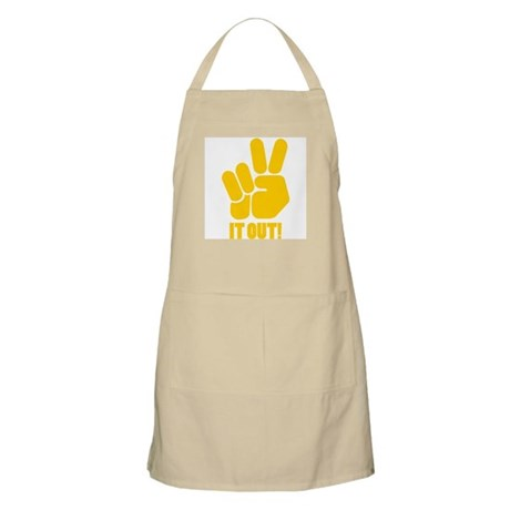 Peace It Out! BBQ Apron