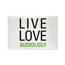 Live Love Audiology Rectangle Magnet