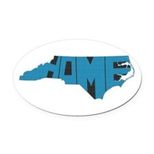 North Carolina Home Oval Car Magnet