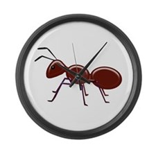 Shiny Brown Ant Large Wall Clock