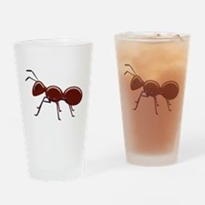 Shiny Brown Ant Drinking Glass