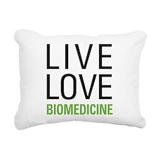 Live Love Biomedicine Rectangular Canvas Pillow