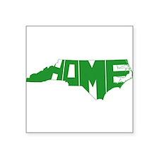 "North Carolina Home Square Sticker 3"" x 3"""