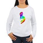 Rainbow Kokopelli Women's Long Sleeve T-Shirt