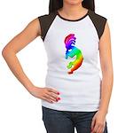 Rainbow Kokopelli Women's Cap Sleeve T-Shirt