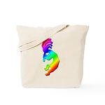 Rainbow Kokopelli Tote Bag