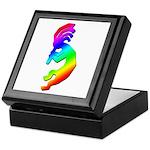 Rainbow Kokopelli Keepsake Box