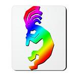 Rainbow Kokopelli Mousepad