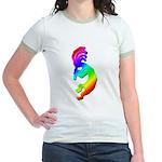 Rainbow Kokopelli Jr. Ringer T-Shirt