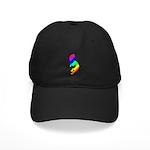Rainbow Kokopelli Black Cap