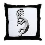 Granite Kokopelli Throw Pillow