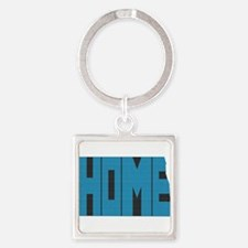 North Dakota Home Square Keychain