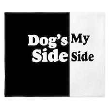 Dogs Side My Side 2 King Duvet