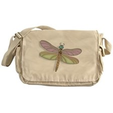 Lavender and Green Dragonfly Messenger Bag