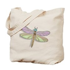 Lavender and Green Dragonfly Tote Bag
