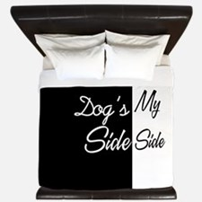Dogs Side My Side 3 King Duvet