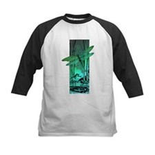 green dragonfly and frog copy Baseball Jersey