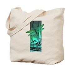 green dragonfly and frog copy Tote Bag