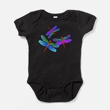 Dive Bombing Dragonflies Baby Bodysuit