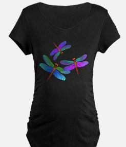 Dive Bombing Dragonflies Maternity T-Shirt