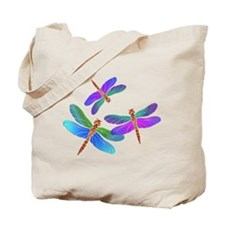 Dive Bombing Dragonflies Tote Bag