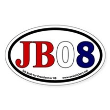 Jeb Bush for President in 2008 Oval Decal