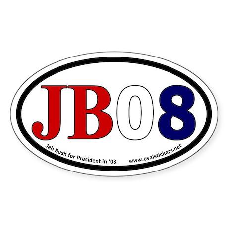 Jeb Bush for President in 2008 Oval Sticker