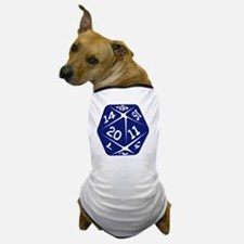 blue d20 Dog T-Shirt