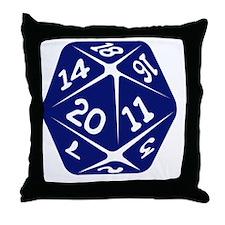 blue d20 Throw Pillow
