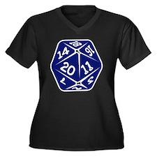 blue d20 Women's Plus Size V-Neck Dark T-Shirt