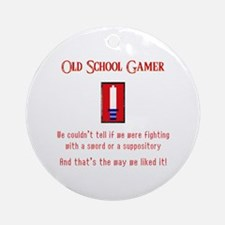 Confused Gamer Ornament (Round)