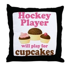 Hockey Player cute Throw Pillow