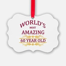 60th. Birthday Ornament