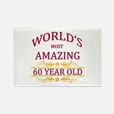 60th. Birthday Rectangle Magnet