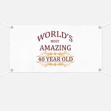 40th. Birthday Banner
