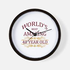 40th. Birthday Wall Clock