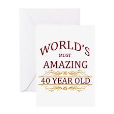 40th. Birthday Greeting Card