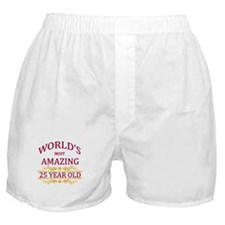 25th. Birthday Boxer Shorts