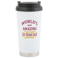 25th. Birthday Travel Mug