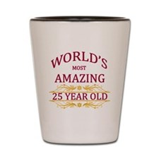 25th. Birthday Shot Glass