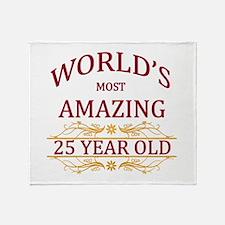 25th. Birthday Throw Blanket