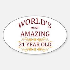 21st. Birthday Sticker (Oval)