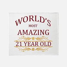 21st. Birthday Throw Blanket